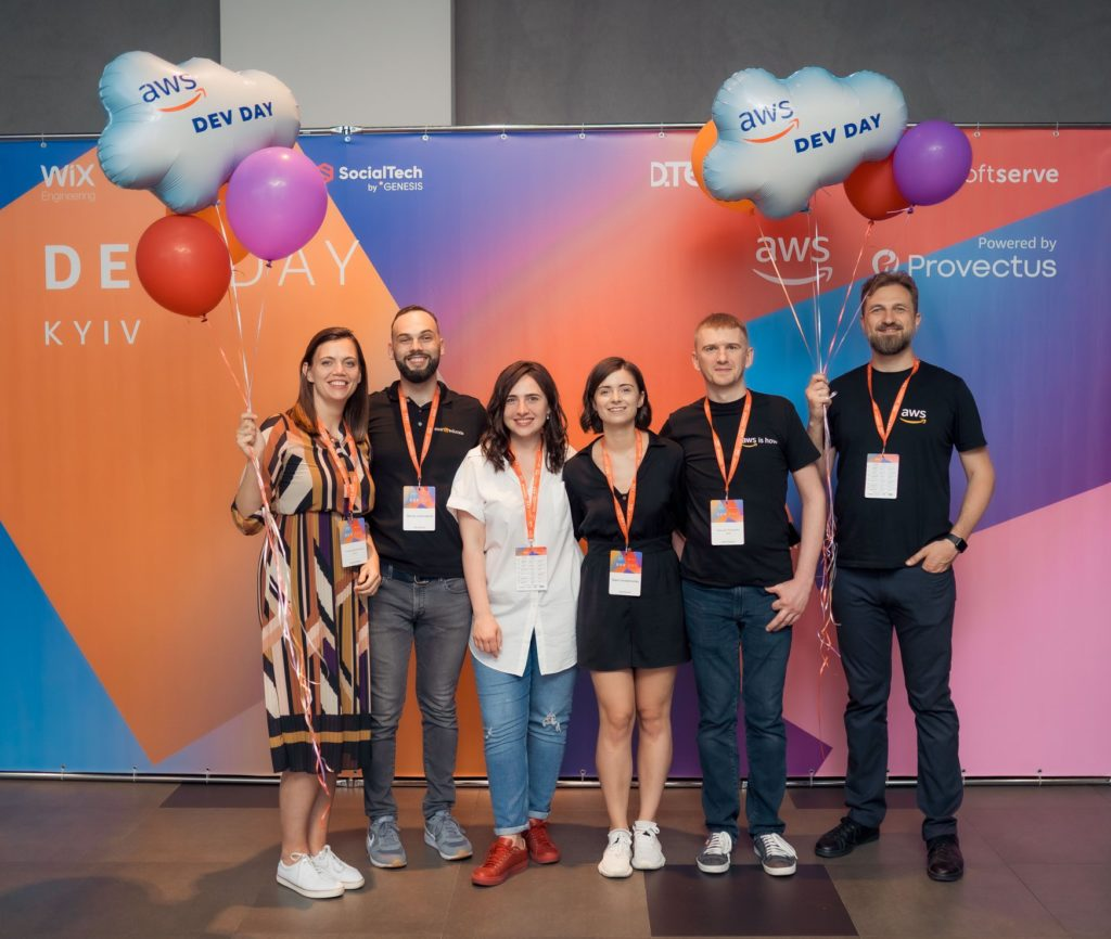 Organizers of AWS event for developers in Kyiv
