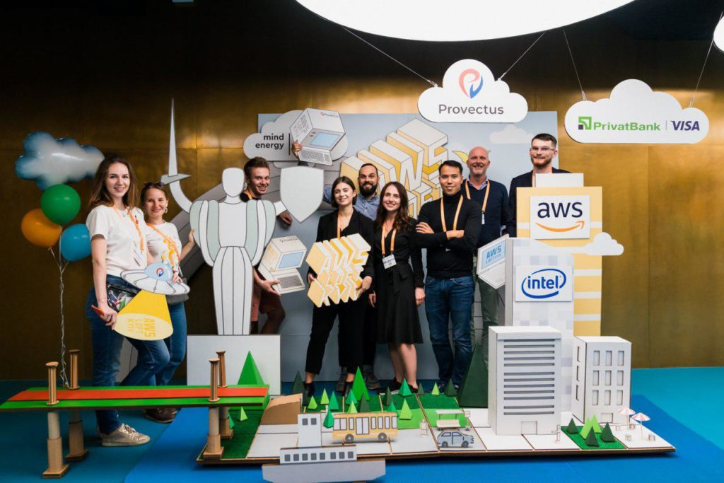 Provectus team at AWS Loft in Kyiv